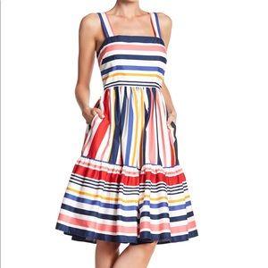 Vince Camuto Multicolored Stripe Sundress Dress 10